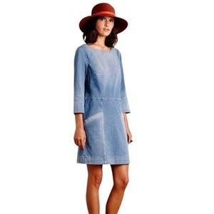 Anthropologie AG Denim Pocket stretch Dress